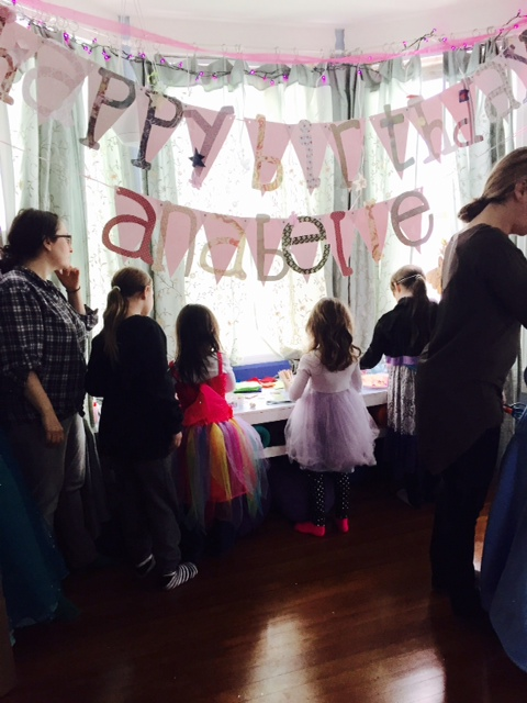 A child's birthday party at The Yoga House