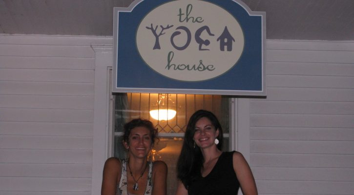 Jacqui & Leigha on The Yoga House's opening night, Sept. 3, 2011.